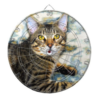Bengal Cat Art Dartboard