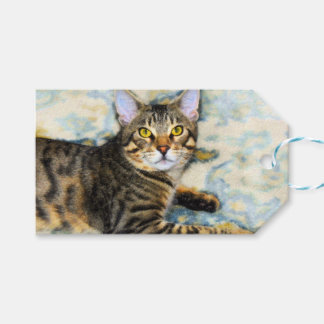 Bengal Cat Art Gift Tags