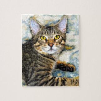 Bengal Cat Art Jigsaw Puzzle