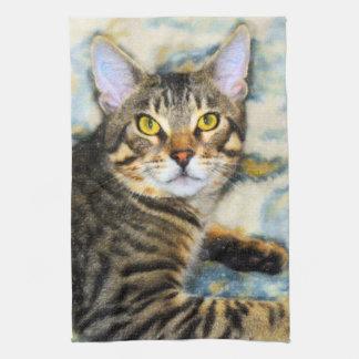 Bengal Cat Art Kitchen Towel