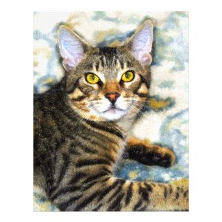Bengal Cat Art Letterhead