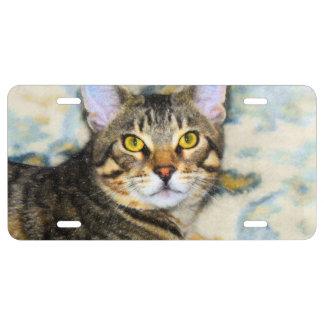 Bengal Cat Art License Plate
