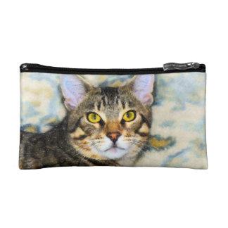 Bengal Cat Art Makeup Bag