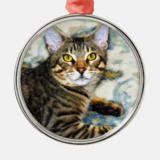 Bengal Cat Art Metal Ornament
