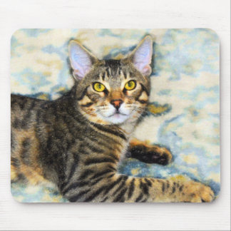 Bengal Cat Art Mouse Pad