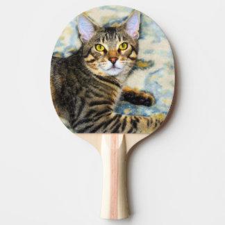 Bengal Cat Art Ping Pong Paddle