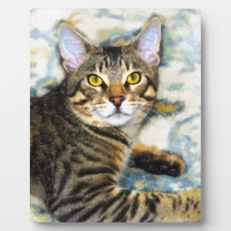 Bengal Cat Art Plaque