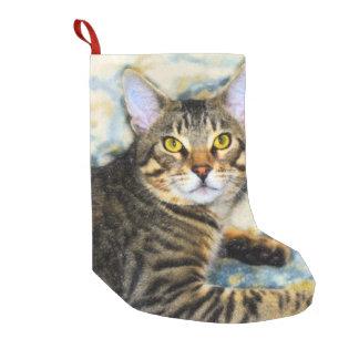Bengal Cat Art Small Christmas Stocking