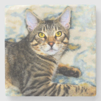 Bengal Cat Art Stone Coaster