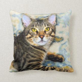 Bengal Cat Art Throw Pillow