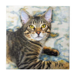 Bengal Cat Art Tile