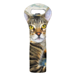 Bengal Cat Art Wine Bag