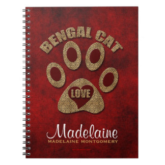 Bengal Cat Breed Personalized Notebook