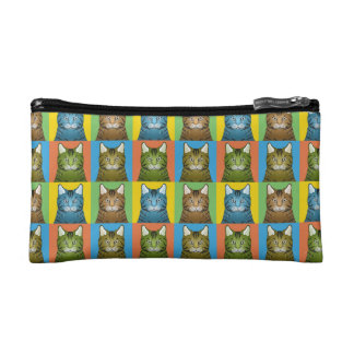 Bengal Cat Cartoon Pop-Art Cosmetic Bag