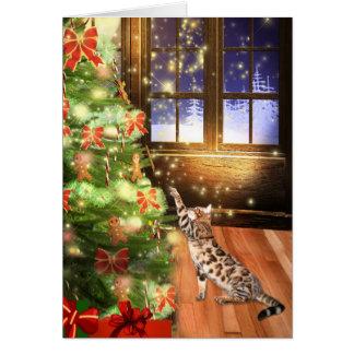 Bengal cat Christmas Cards