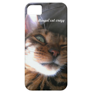 Bengal cat crazy iPhone case Case For The iPhone 5