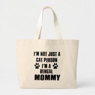 Bengal Cat Design Large Tote Bag