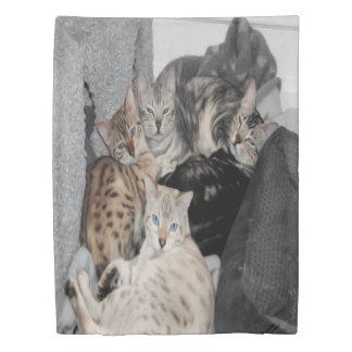 Bengal Cat Kitty Pile Duvet Cover