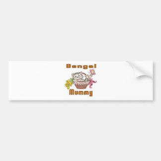 Bengal Cat Mom Bumper Sticker