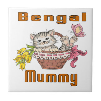 Bengal Cat Mom Tile
