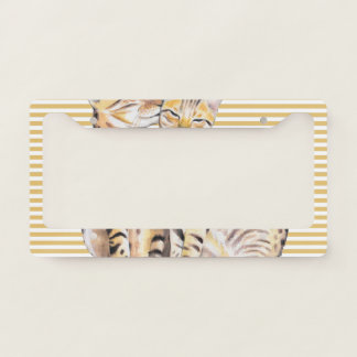 Bengal Cats Ochre Stripes License Plate Frame