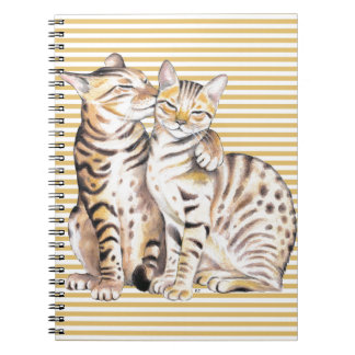 Bengal Cats Ochre Stripes Notebook