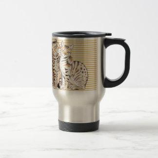 Bengal Cats Ochre Stripes Travel Mug