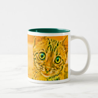 Bengal Kitten 1 Pop Two-Tone Coffee Mug