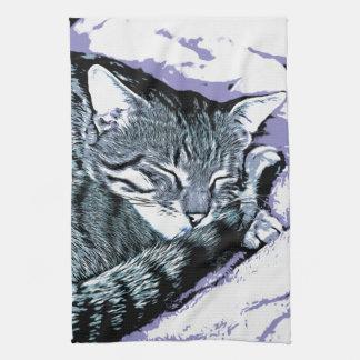 Bengal Kitten Nap Kitchen Towel