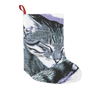 Bengal Kitten Nap Small Christmas Stocking