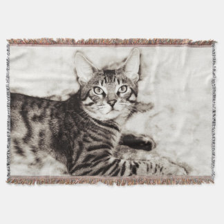 Bengal Photo Throw Blanket