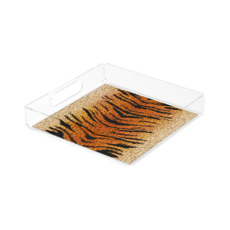 Bengal Tiger Animal Fur Acrylic Tray