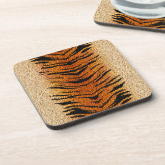 Bengal Tiger Animal Fur Coaster
