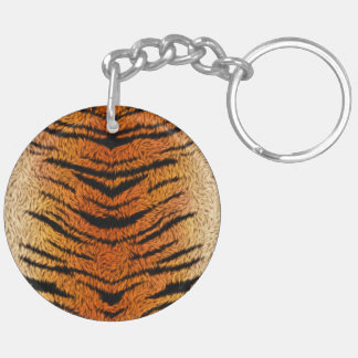 Bengal Tiger Animal Fur Keychain
