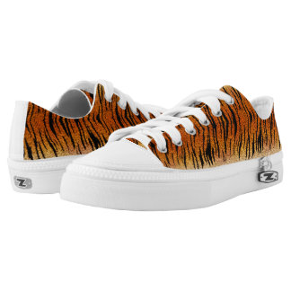 Bengal Tiger Animal Fur Low-Top Sneakers