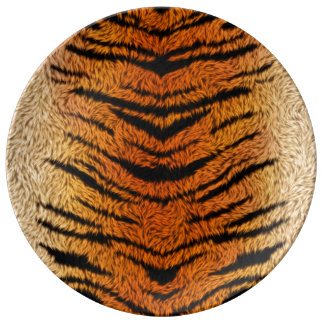 Bengal Tiger Animal Fur Plate
