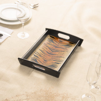 Bengal Tiger Animal Fur Serving Tray