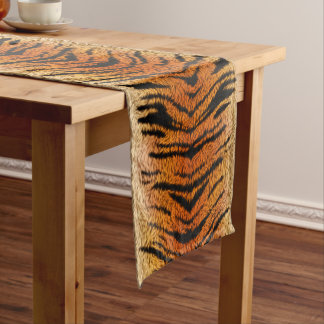 Bengal Tiger Animal Fur Short Table Runner