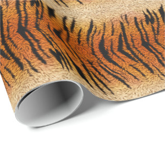 Bengal Tiger Animal Fur Wrapping Paper