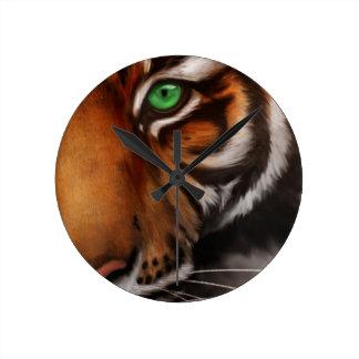 Bengal Tiger Animal Print Eye Round Clock