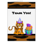 Bengal Tiger Animal Print Thank You Card