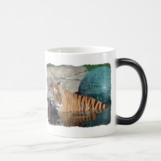 Bengal Tiger Black Color-Changing Morphing Mug