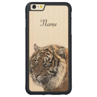 Bengal Tiger Carved Maple iPhone 6 Plus Bumper Case