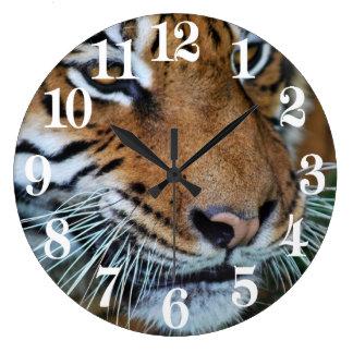 Bengal Tiger Close Up Africa Large Clock