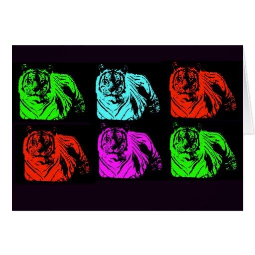 Bengal Tiger Collage Greeting Card