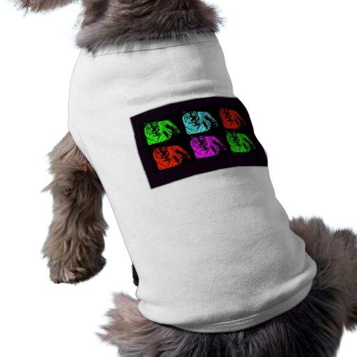 Bengal Tiger Collage Dog T Shirt