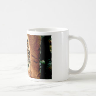 Bengal Tiger Cub Peers Out Coffee Mug