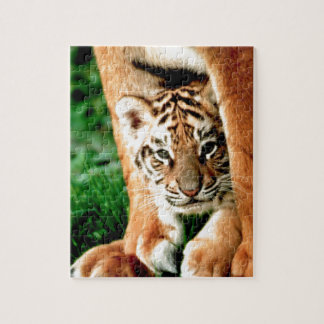 Bengal Tiger Cub Peers Out Jigsaw Puzzle