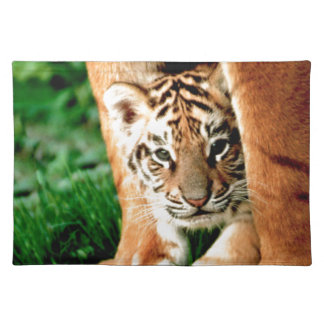 Bengal Tiger Cub Peers Out Placemat
