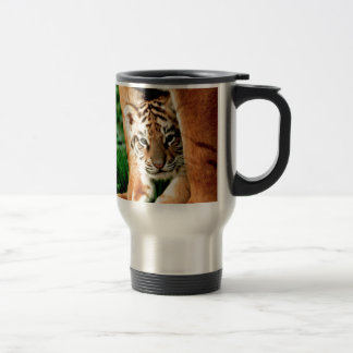 Bengal Tiger Cub Peers Out Travel Mug